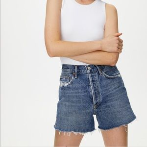 Agolde Dee short in medium denim